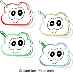 smile stickers label tag set