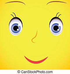 Smile Sunflower - Vector illustrartion sun, sunflower...
