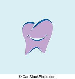 smile tooth dental logo vector icon template