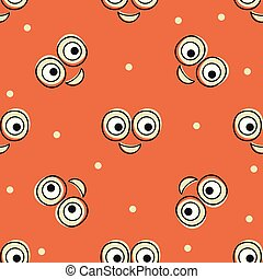 Smile vector pattern background. Texture doodle art. Funny simple illustration