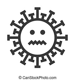 Smile Virus Emoji, Smiley Face Vector Icon