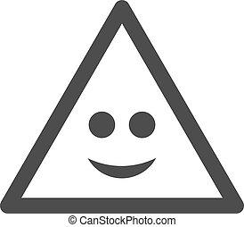 Smile Warning Flat Icon