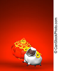 White Sheep, New Year's Lantern - Smile White Sheep, New...
