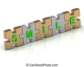 SMILE word of gold puzzle