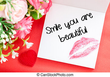 Smile your are beautiful message.