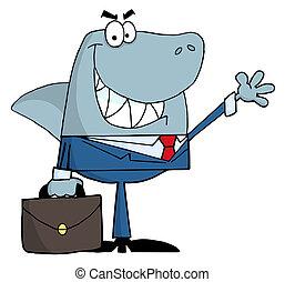 Smiled Business Shark