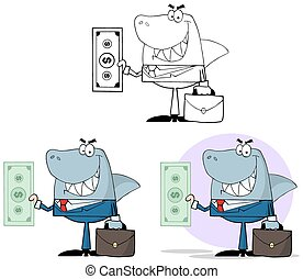 Smiled Business Shark. Collection