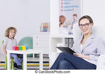 Smiled female therapist