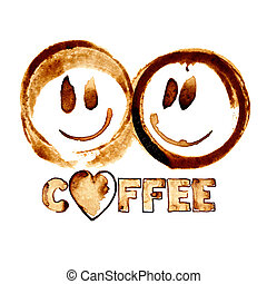 Smiles by coffee stains