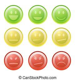 Smiles icon set