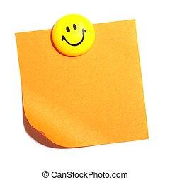 smiley, és, copyspace