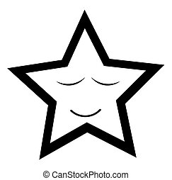 smiley, étoile, dormir