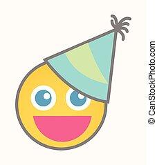 smiley,  -, γενέθλια, φά, μικροβιοφορέας, γελοιογραφία