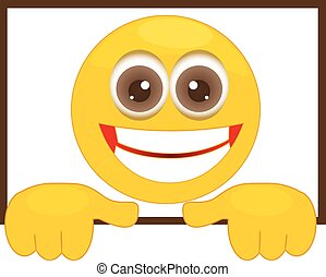 smiley , μέσα , ένα , κορνίζα