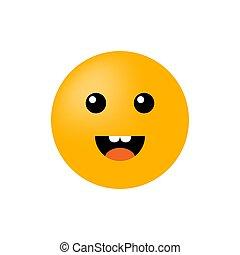 smiley, 白, ベクトル, emoticon, 微笑, バックグラウンド。, icon., 顔, 隔離された