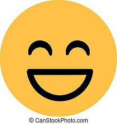 smiley, 笑い, クラシック