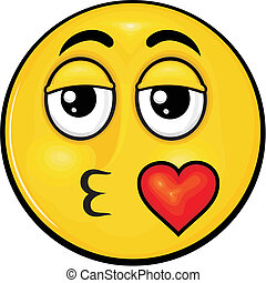smiley 02 - vector cartoon yellow smiley with funny...