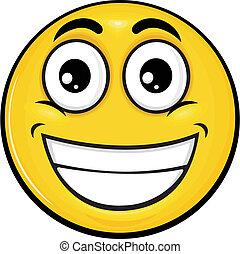 smiley 05 - vector cartoon yellow smiley with funny...