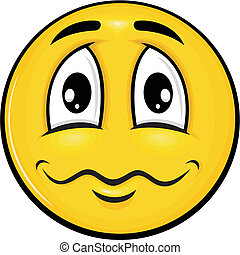 smiley 06 - vector cartoon yellow smiley with funny...