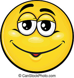 smiley 11 - vector cartoon yellow smiley with funny...