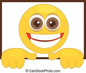 smiley, alatt, egy, keret