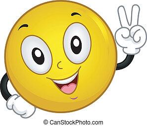 smiley, béke cégtábla