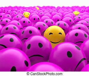 Smiley balls 3d render