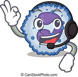 Smiley basophil cell cartoon character design wearing ...