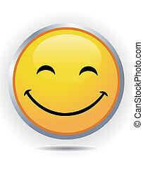 smiley, blanco