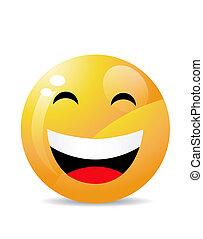 smiley, branco