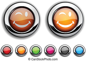 Smiley button.
