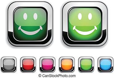 Smiley button.