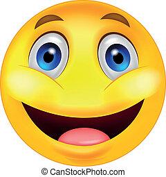smiley, caricatura, feliz