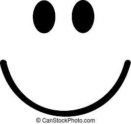 smiley, con, sonrisa grande