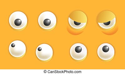 Smiley constructor with eyes isolated cartoon vector illustration