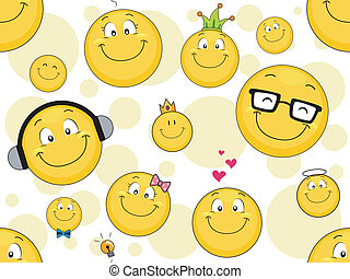 smiley, család, háttér
