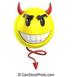 smiley devil3d illustration