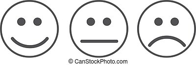 Neutre smiley n gatif positif emoticons positif - Smiley noir et blanc ...