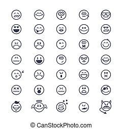 smiley enfrenta, ícones
