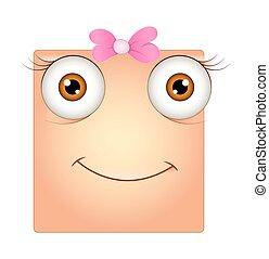 smiley, espressione, sorpreso, faccia