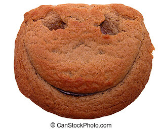 Smiley Face Cookie - Big smile on a pumpkin filled cookie...