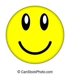 smiley face - Yellow smiley face on a white background...