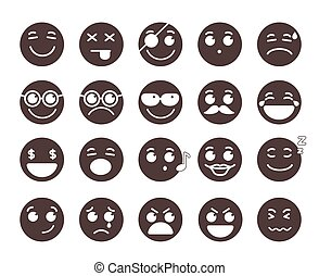 Smiley face flat vector emoticons