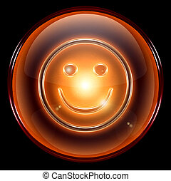 Smiley Face, isolated on black background