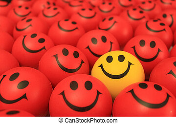 Smiley face - Red, yellow smiley face smiley face different...