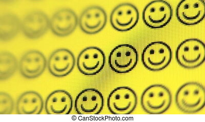 Smiley Face - Smiley face changes to a frown