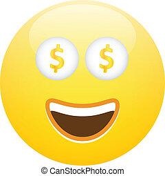 Top 60 Clip Art Of Money Smiley Face Clip Art, Vector ... |Smiley Face Holding Money