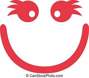 Smiley face with eyelashes