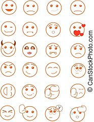 Smiley faces - A set of smiley faces.