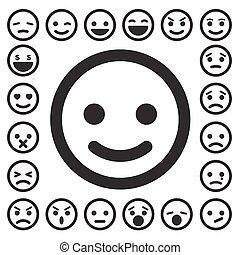 Smiley faces icons set. Illustration eps10